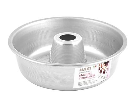 Habi - Molde para bizcocho, Aluminio, 20 x 20 x 6 cm, Color