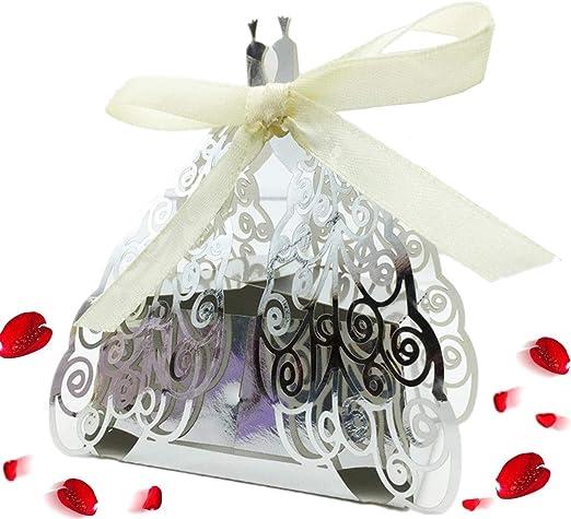 60x Floral Laser Cut Wedding Bonbonniere Bomboniere Candy Gift Boxes Pink
