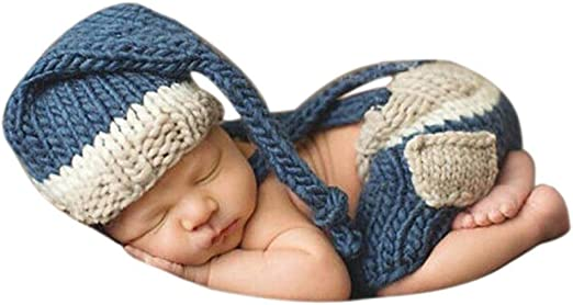 Newborn Baby Boys Girls Hat Crochet Knit Costume Photo Photography Prop Outfit
