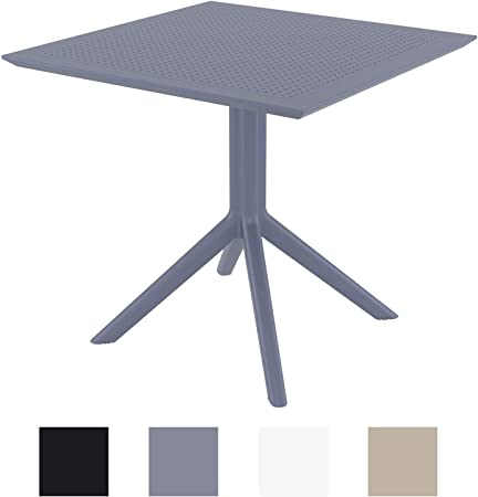 Amazon De Clp Tisch Sky 80 X 80 Cm I Wetterfester Gartentisch Aus