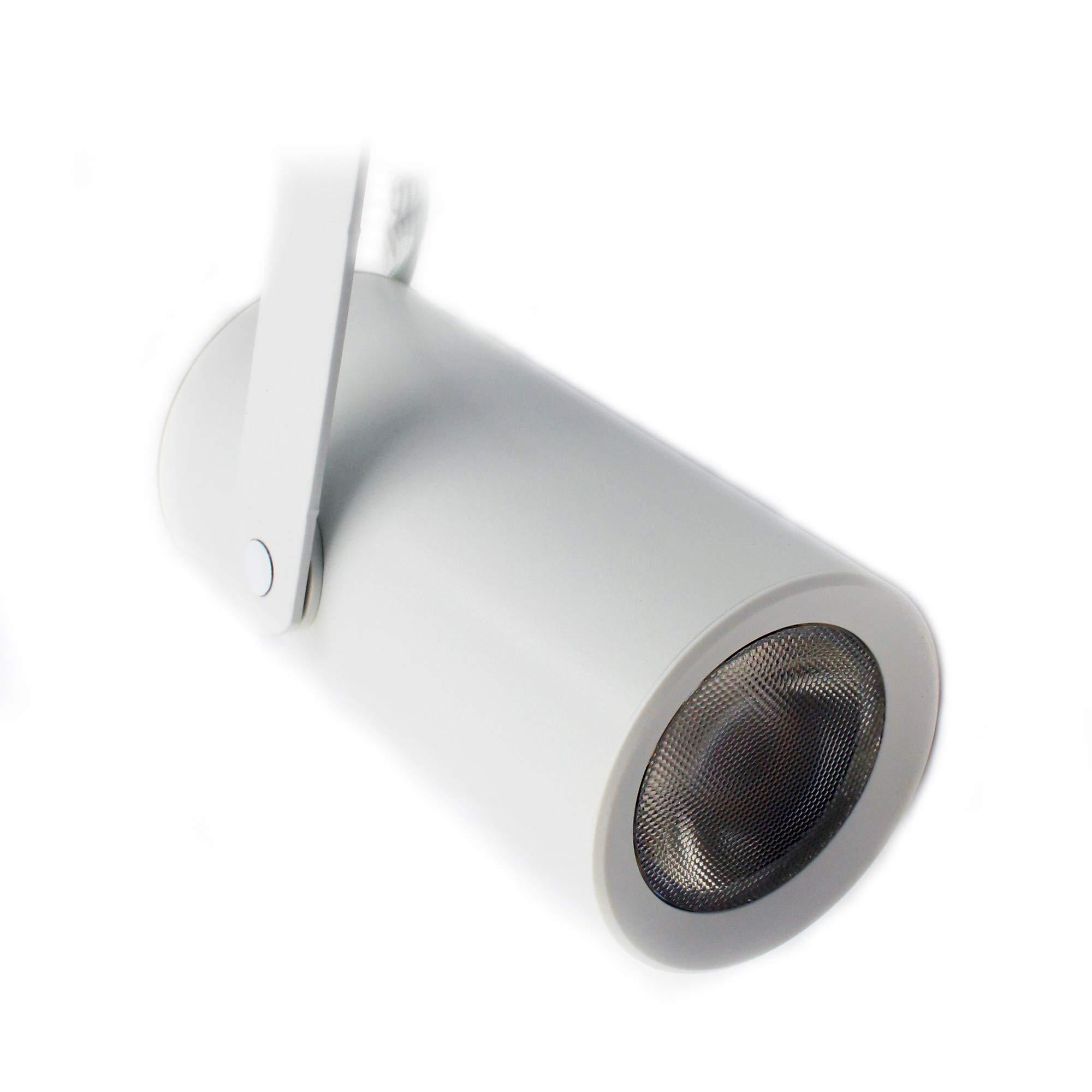 Lightolier LT08RWF830WHVA PROLed Track Lighting LED Mini Cylinder Head, Flood, 3000K, White
