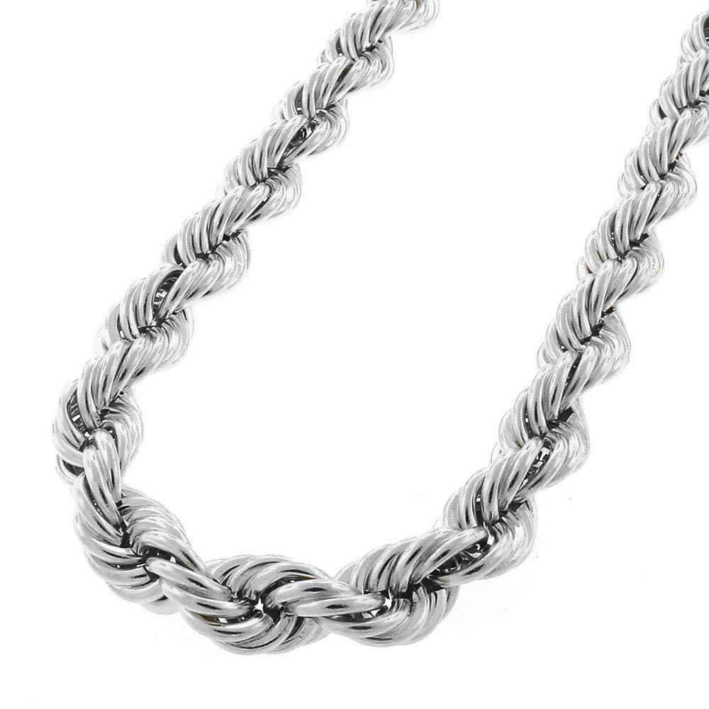 Mens Italian 925 Sterling Silver Damond Cut Rope Chain Necklace, 5MM, 6MM, 7.5MM,8.5MM- Mens Rope Chain, Sterling Silver Rope Chain Necklace For Men, Mens Rope Chain Bracelet by Verona Jewelers (Image #2)