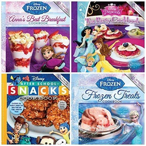 Set of 4 Disney Frozen, Princess and Toy Story Cook Books: Frozen Treats, Anna's Best Breakfast, Tea Party, After School Snacks