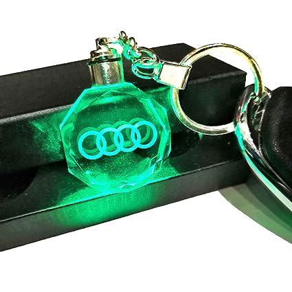 VILLSION LED Llavero Accesorios Colores Cambiantes Logo Coche con luz LED Llave