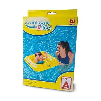 Flotador Asiento Cuadrado Bebe 69 cm. Swin Safe: Amazon.es: Juguetes y juegos