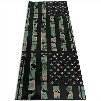 Amazon.com: USA Army Camo Flag Printed Yoga Mat Prana Yoga ...