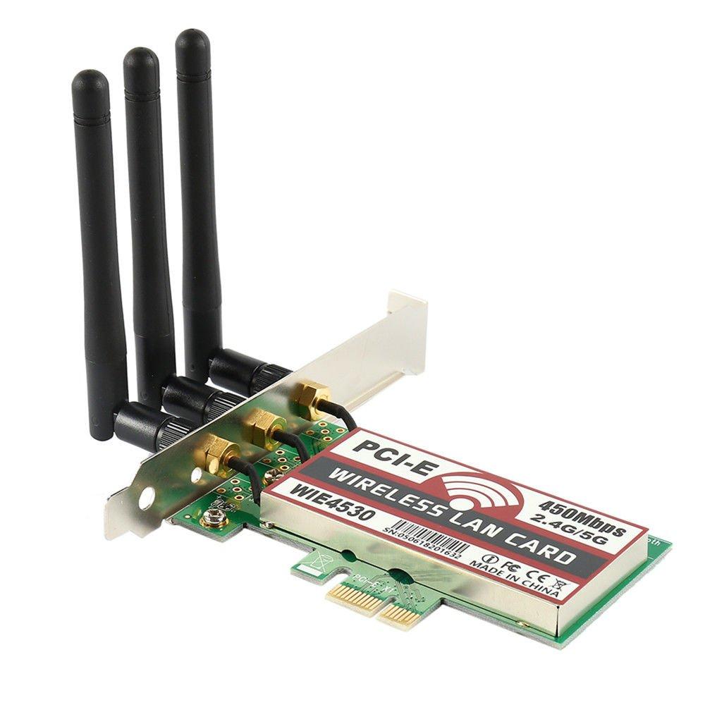 450mbps Wifi Wireless Pci-e Wifi 2.4g / 5g Pci-express X1 Adaptador Tarjeta De Escritorio (modelo: Wie4530)