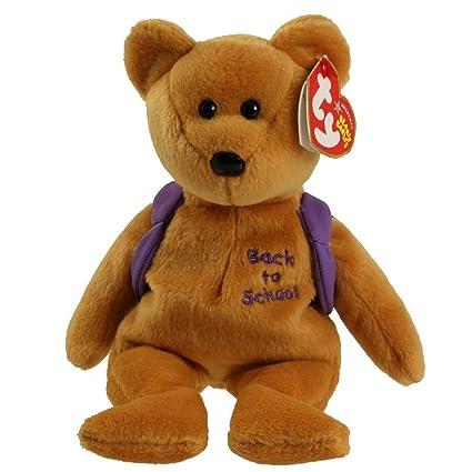 Amazon.com  Ty Beanie Babies Books - Bear Purple Backpack  Toys   Games 83f22a300b1