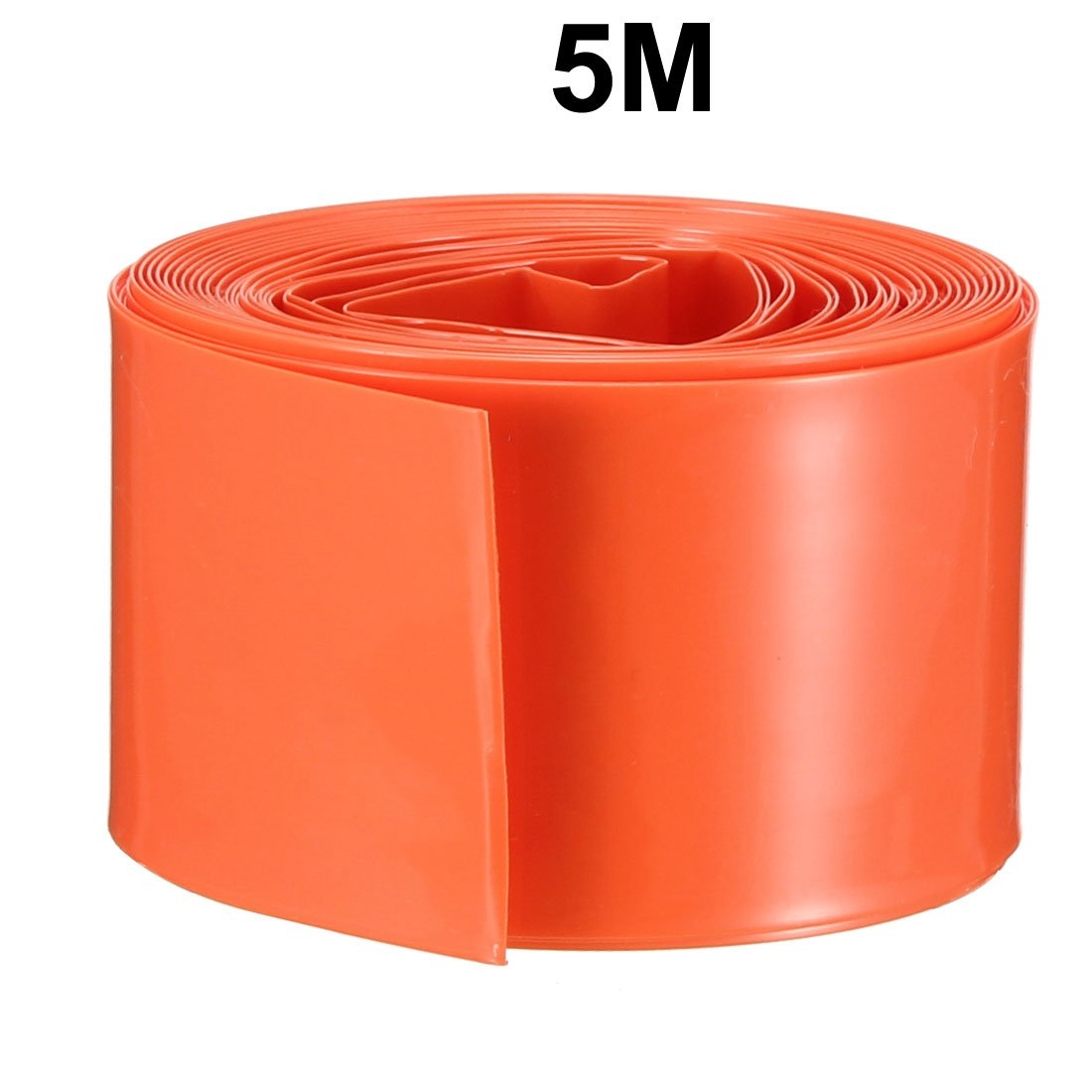 uxcell 5M 29.5mm Width PVC Heat Shrink Tubing Orange for 1 x 18650 Battery