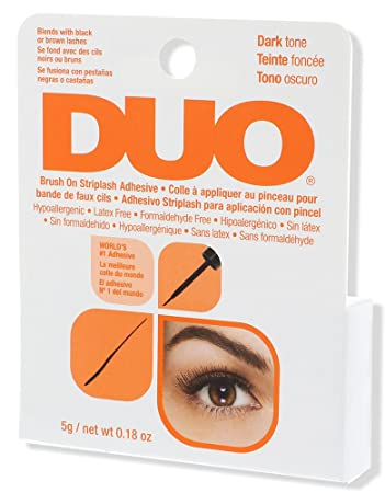 6ae8b8869e1 Amazon.com : DUO Brush-On StripLash Adhesive, Dark, Hypoallergenic ...