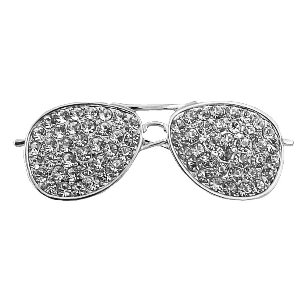 1b2031dcf7d8 Amazon.com  CHUYUN Cool Sunglasses Brooches Pin for Women Gold and Silver  Color Jewelry Rhinestone Lapel Pin (Gold)  Jewelry