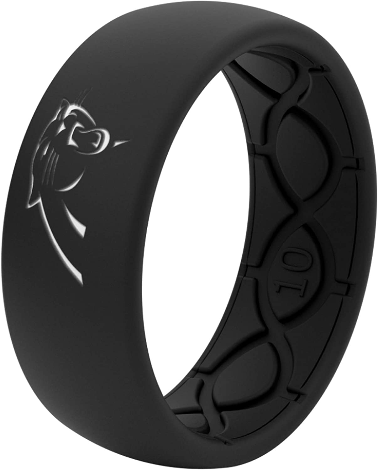Original Lifetime Coverage Groove Life Silicone Wedding Ring for Men Breathable Rubber Rings for Men Comfort Fit Mens Ring Unique Design NFL
