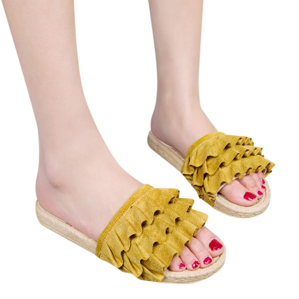 Sandals for Women Platform Sandals Bohemian Style Loafers Casual Slipper Flat Shoes Sandals