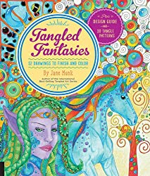 Tangled Fantasies: 52 Drawings to Finish and Color (Tangled Color and Draw)