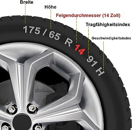 Cm Design 4 X 14 Zoll Gtx Carbon Schwarz Auto Radkappen Radzierblenden Auto