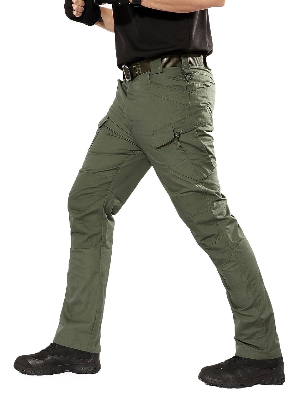 Pantaloni da Lavoro Uomo per Uso Stagioni Casual YFNT Impermeabile Pantaloni Tattici Militari Uomo Ripstop Pantaloni da Viaggio Trekking