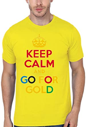 c0175c63304e0 Keep Calm And Go For Gold Rio 2016 Olympics Men's T-shirt XX-Large ...