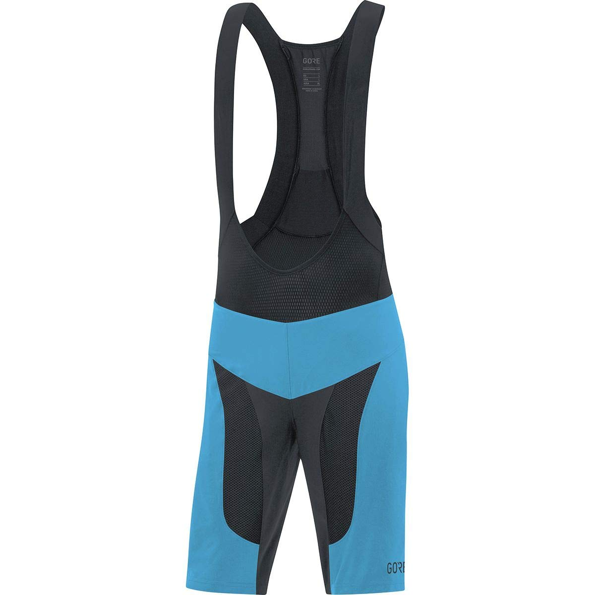 GORE Wear C7 2in1 Men's Mountain Cycling Bib Shorts With Seat Insert, S, Blue/Black