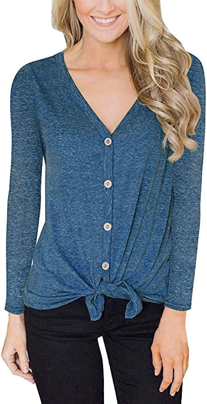 Blusa para Mujer, Tallas Grandes Camisas De Moda con Cuello En V ...