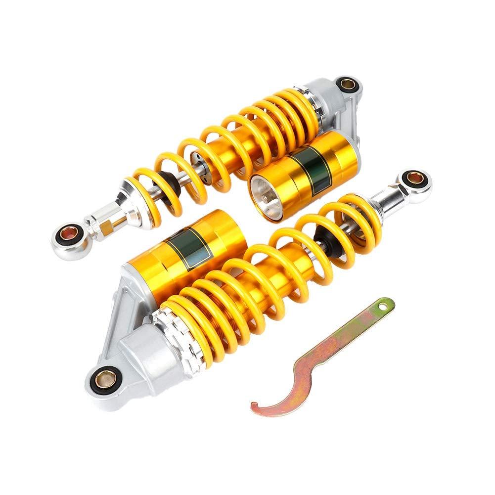 amortisseurs damortisseur de ressort de suspension dacier inoxydable de moto dor jaune EBTOOLS Amortisseurs