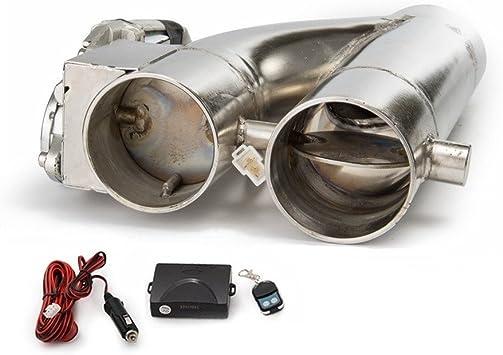 Kit de salida de escape Modificaci/ón de coche de acero inoxidable YPipe de 2 in Kit de salida de corte de escape de control remoto