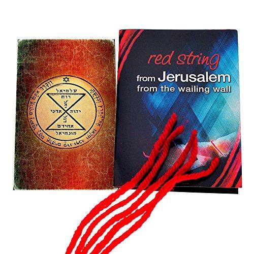 5 Kabbalah Red String Bracelets blessed in Jerusalem with King Solomon Matching Seal Amulet -