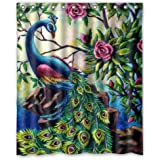 """60""""x72"""" Inches Artistic Paintings Graceful Peacock Shower Curtain,Shower Rings Included Best Choice For Bathroom"""