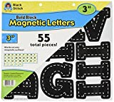 Teacher Created Resources Black Stitch Bold Block 3'' Magnetic Letters