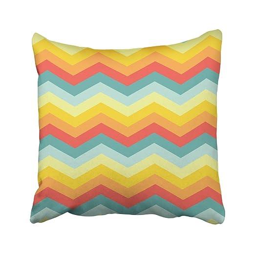 Emvency - Funda de cojín Decorativa, diseño de Zigzag, Color ...