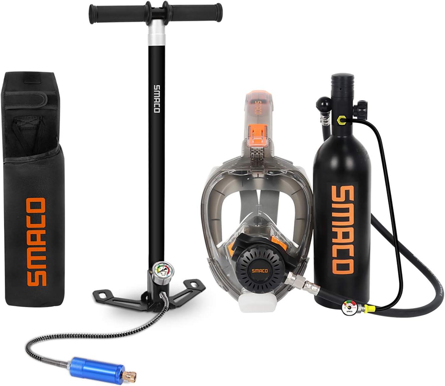 SMACO Mini Scuba Equipment Adjustable Shoulder Bag for 1L Air Oxygen Diving Tank