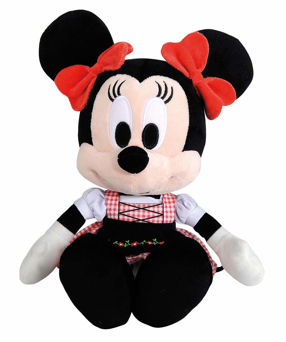 Amazon.com: Nicotoy - Peluche - Mickey Mouse - Minnie Bavière 25cm - 5413538785106: Toys & Games
