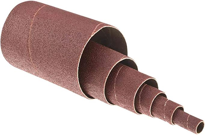 Grizzly Industrial H5449-1-1//2 Dia 3 pk. x 4-1//2 A//O Hard Sanding Sleeve 150 Grit