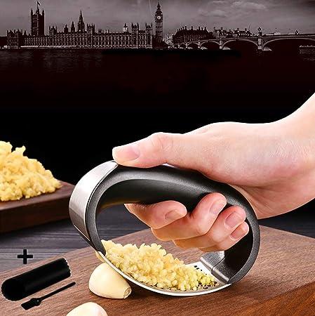 Multi-function Manual Stainless Steel Garlic Press Grinder Slicer Cutter Peeler