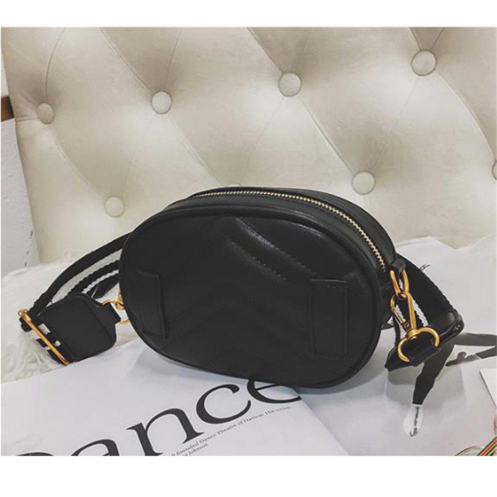 JNHVMC Women Heart Waist Pack V Diamond Lattice Waist Bags Pu Leather Bag Stripe Strap Belt Waist Bags Belt Bags