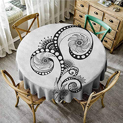 Rank-T Round Tablecloth Waterproof Fabric 47