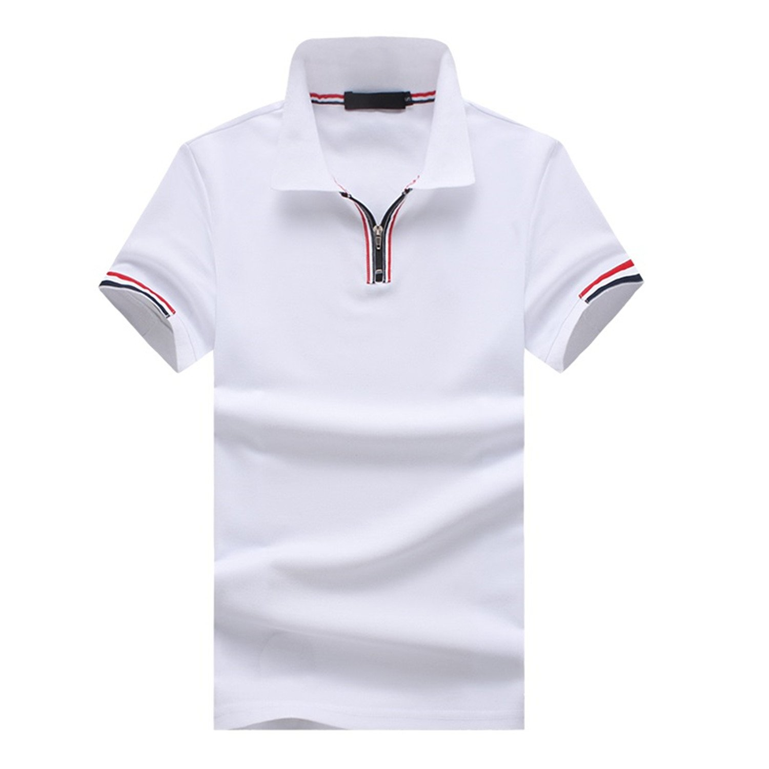 Giles Abbot Summer Fashion Polo Shirt Men Solid Color Zipper British Style Short Sleeve Casual Polos Brand Clothing