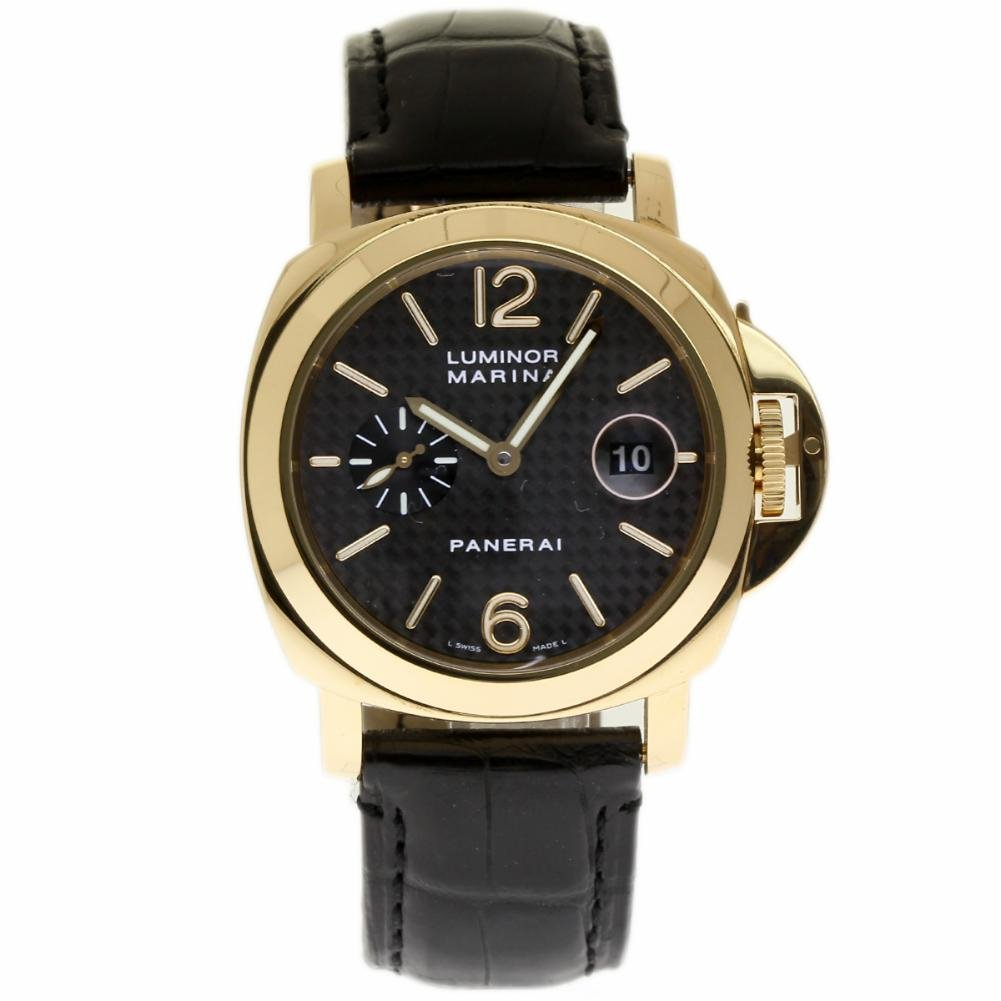 Panerai Luminor Marina swiss-automatic Mens Reloj pam00140 (Certificado) de segunda mano: Panerai: Amazon.es: Relojes
