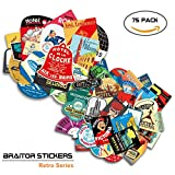 BRAiTOR Retro Style Stickers - Pack of 75pcs - Waterproof Vinyl Graffiti Decals for Laptop, Luggage, Kids, Motorcycle, Bicycle, Skateboard, Car Bumper and Wall Decoration