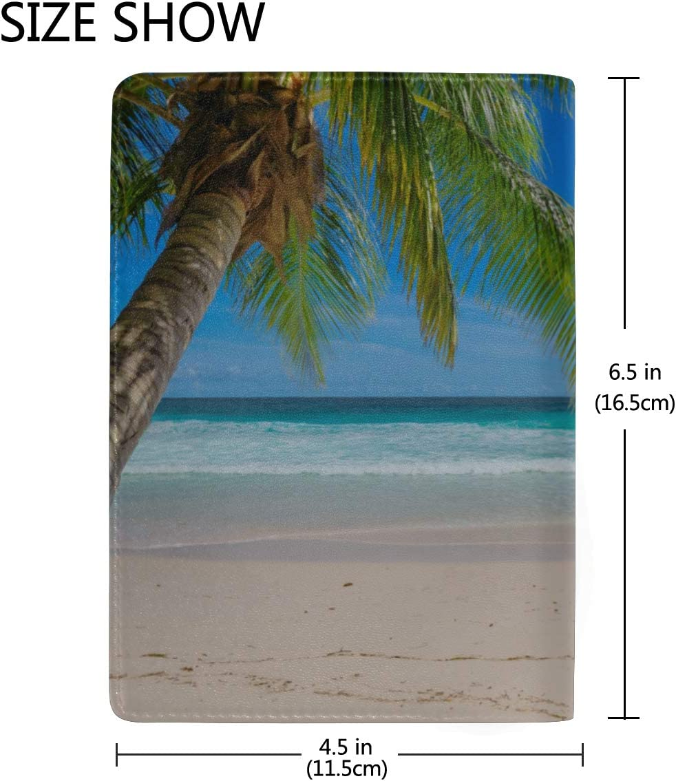 Paper Style Blocking Print Passport Holder Cover Case Travel Luggage Passport Wallet Card Holder Made With Leather For Men Women Kids Family Summer Beach Birds-eye View