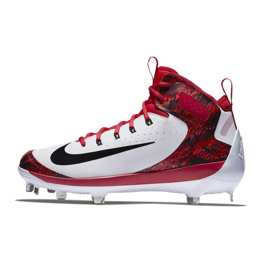 Weiß University rot Weiß schwarz Nike Herren Elite Alpha Huarache Mid-Stollen,