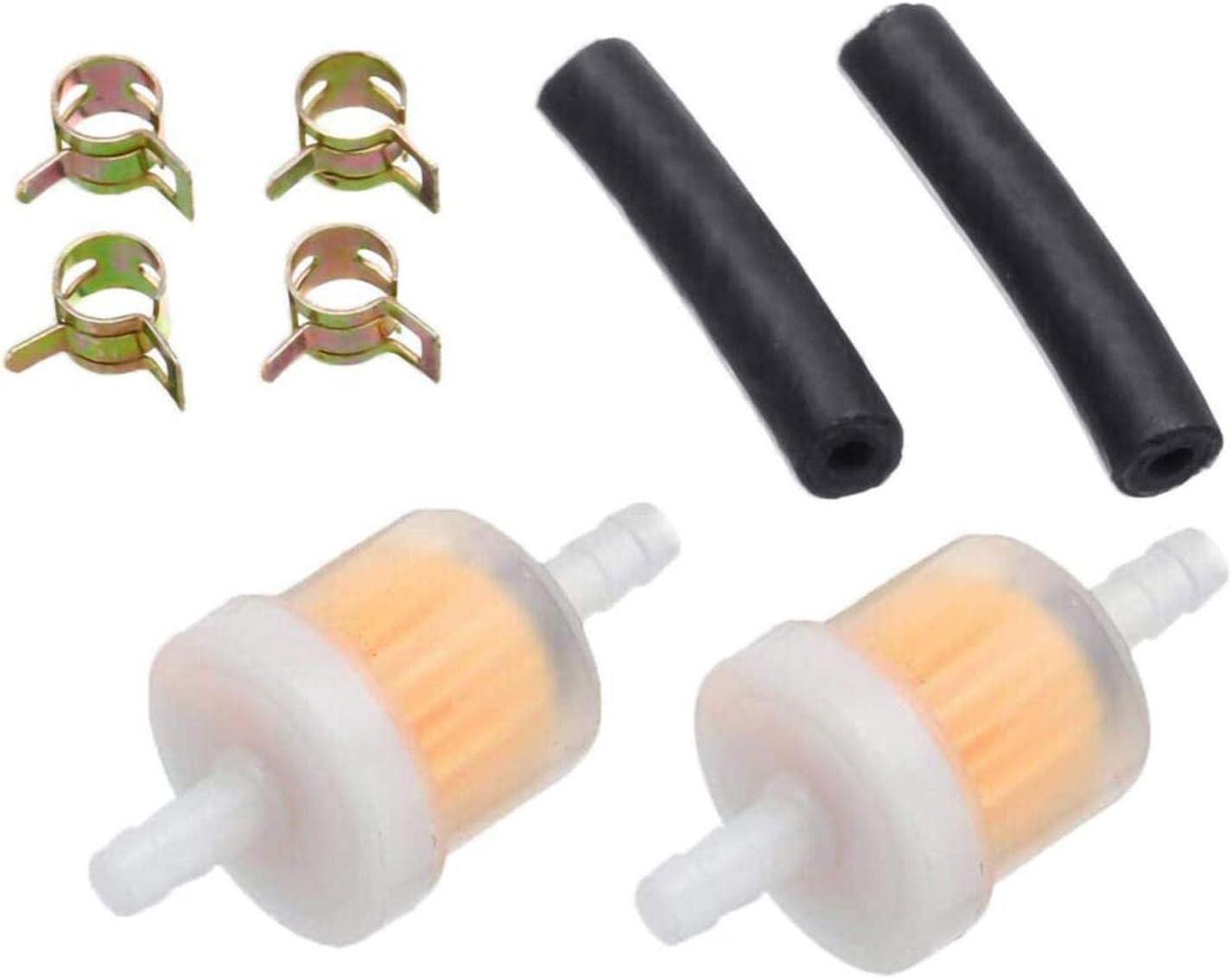 Xeroy 8 Piezas Kit De Filtro De Combustible En L/ínea para Calentador De Estacionamiento Eberspacher Webasto Di/ésel 2 Filtros De Combustible 2 Manguera De Combustible 4 Abrazaderas De Manguera