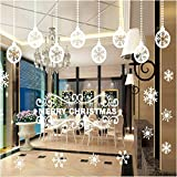 OOFYHOME Christmas decorations, Christmas stickers, Christmas glass door stickers, Christmas wall stickers Christmas decorations , B