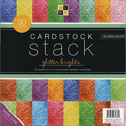 Glitter Paper Stack 12''''X12''''-30 Sheets/Pad