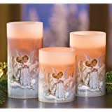 Kissing Angels Flameless 3 Piece Candle Set