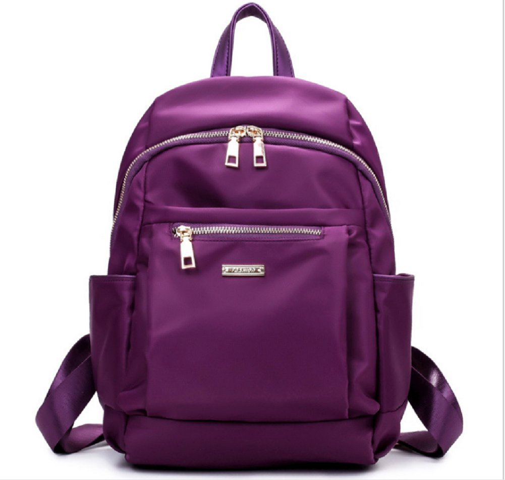 Ecokaki(TM) Fashion Ladies Schoolbag Backpack Purse Handbag Shoulder Bag Sling Tote, Purple