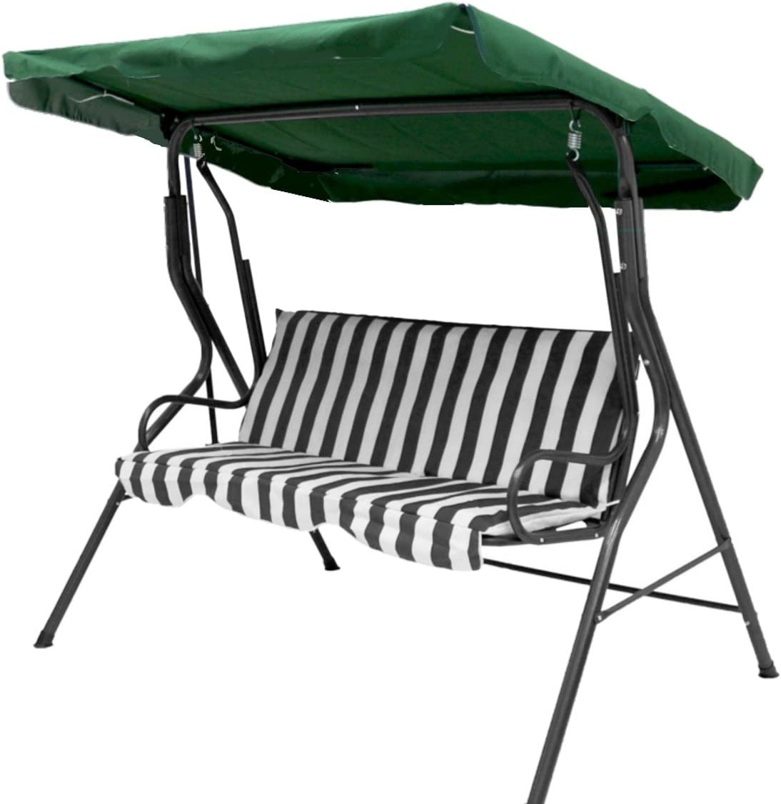 LUNAH Garden Swing Canopy Replacement Patio Swing Top Cover Balcony Hammock Chair Canopy Waterproof UV Block Sun Shade Awning for Outdoor Garden Seat Furniture