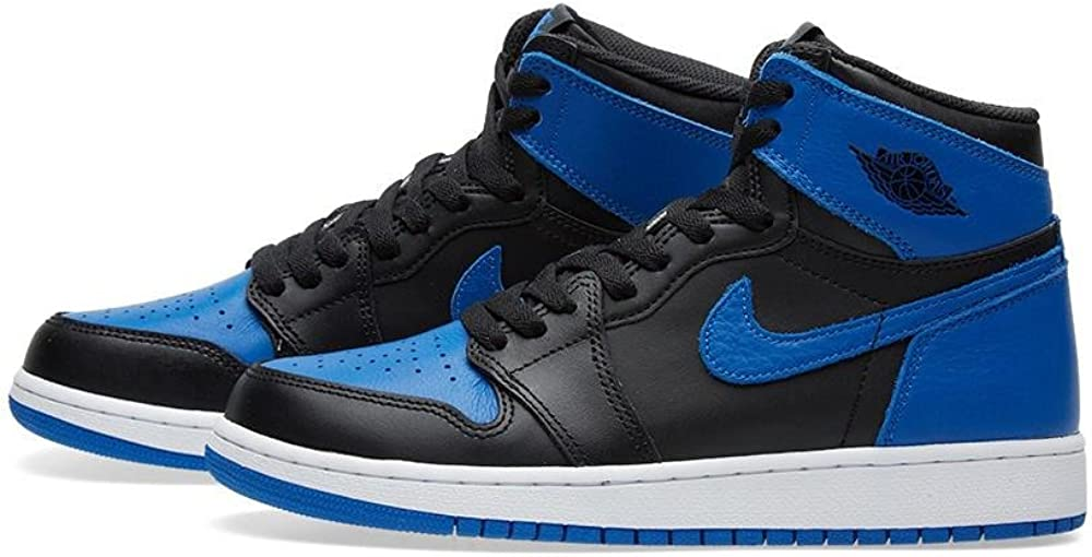 Nike Kids Air Jordan 1 Retro High OG BG Black//White 575441-007 Size: 5.5Y