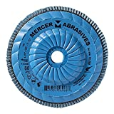 Mercer Industries 262T080 High Density Type 27, 4-1/2''x 5/8'' -11 Grit 80 Zirconia Flap Disc Trimmable (10 Pack)