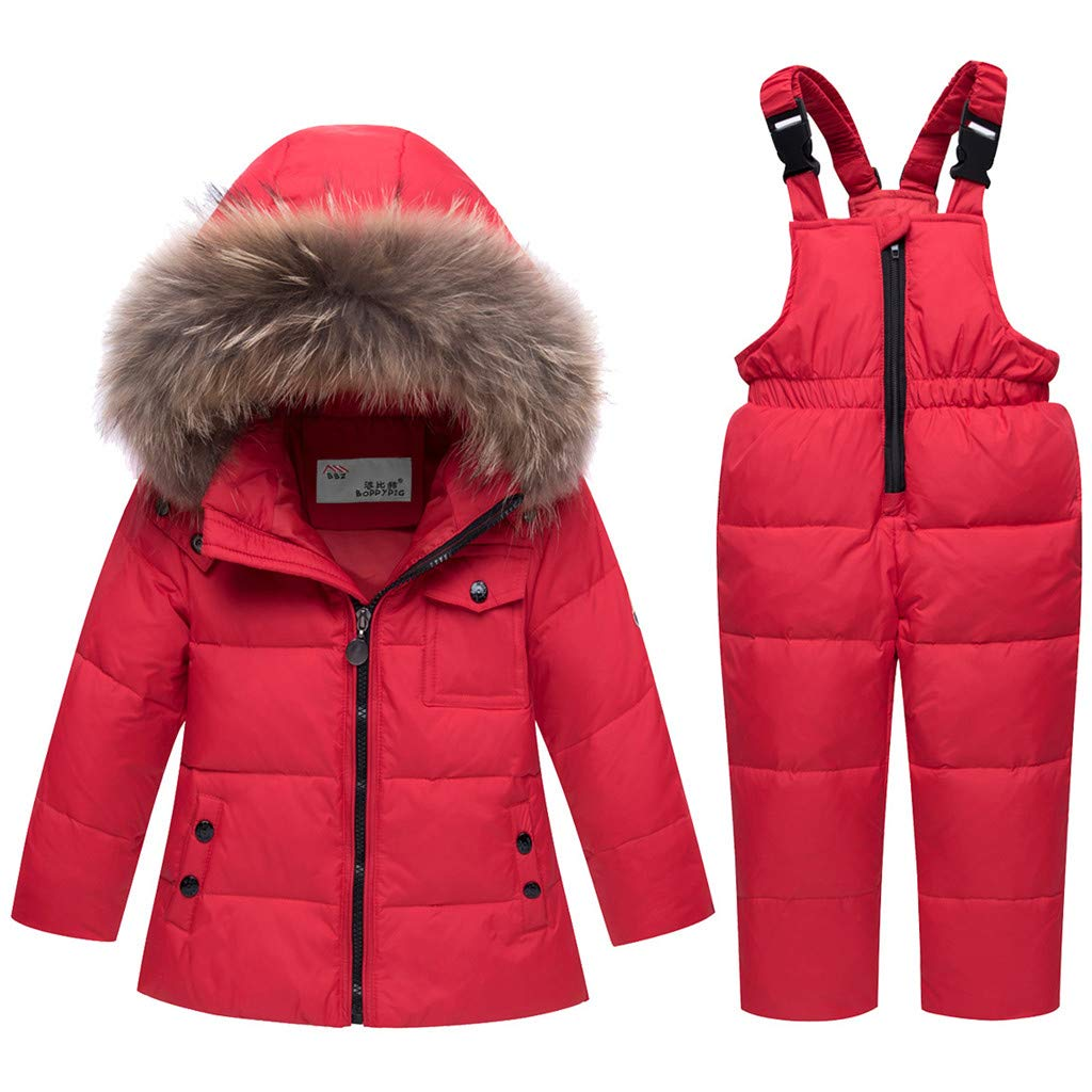 Kids Winter Puffer Jacket and Snow Pants 2-Piece Snowsuit Skisuit Set Ltd
