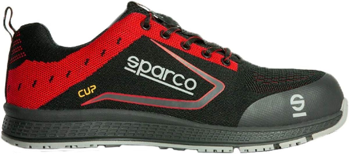 Sparco Chaussures de S/écurit/é Cup S1P-SRC Rouge-Noir TG.45 UK 10.5